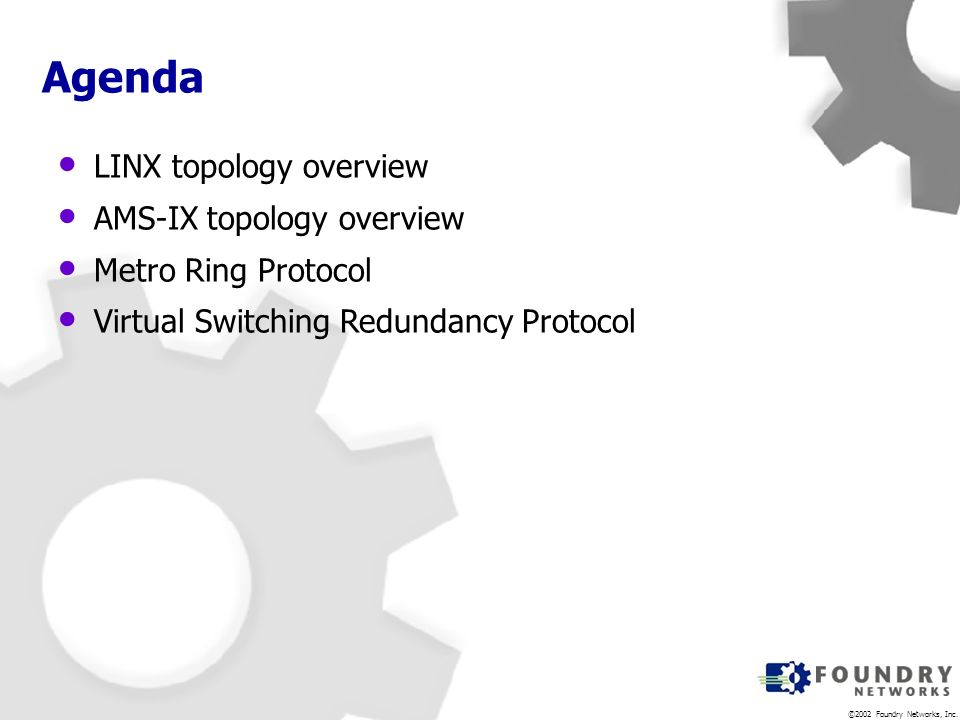 Agenda LINX topology overview AMS-IX topology overview