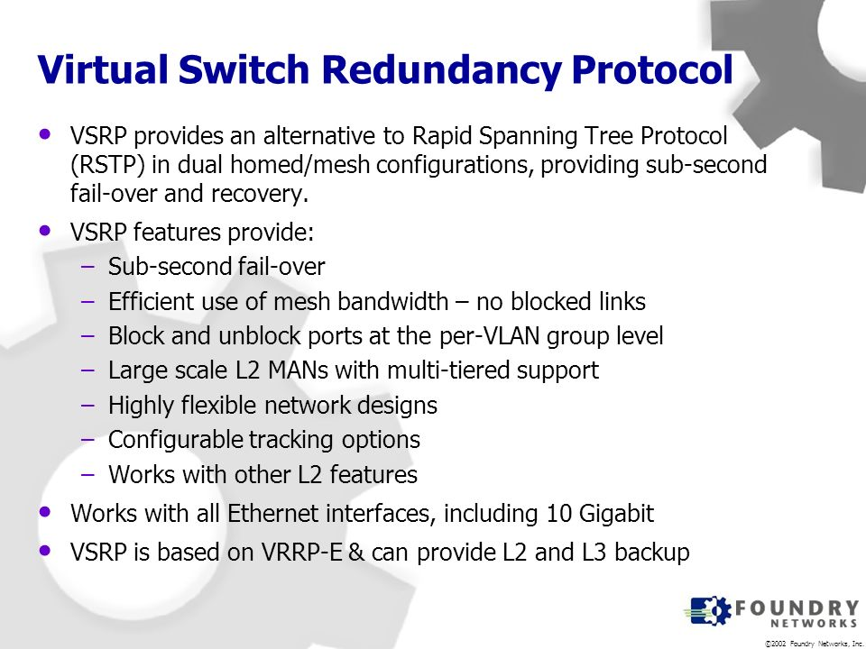 Virtual Switch Redundancy Protocol