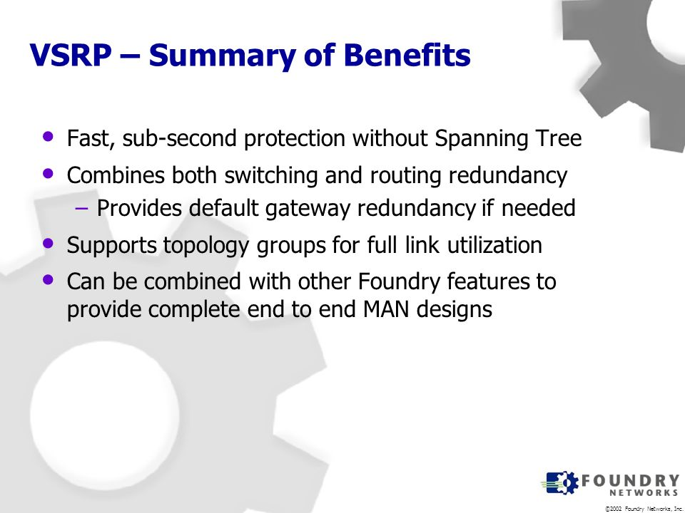 VSRP – Summary of Benefits