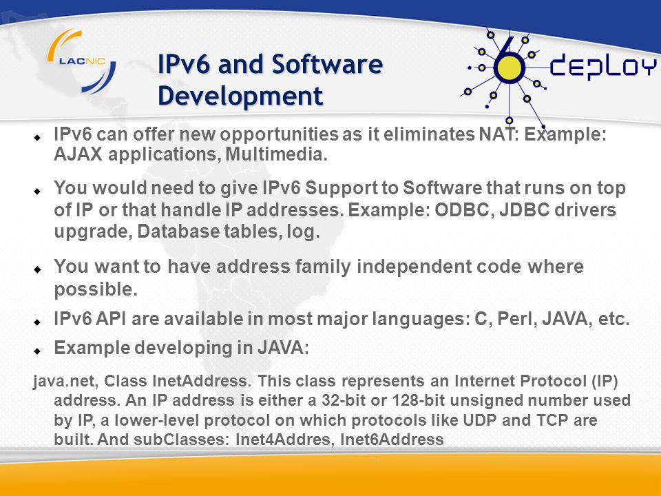 IPv6 and Software Development