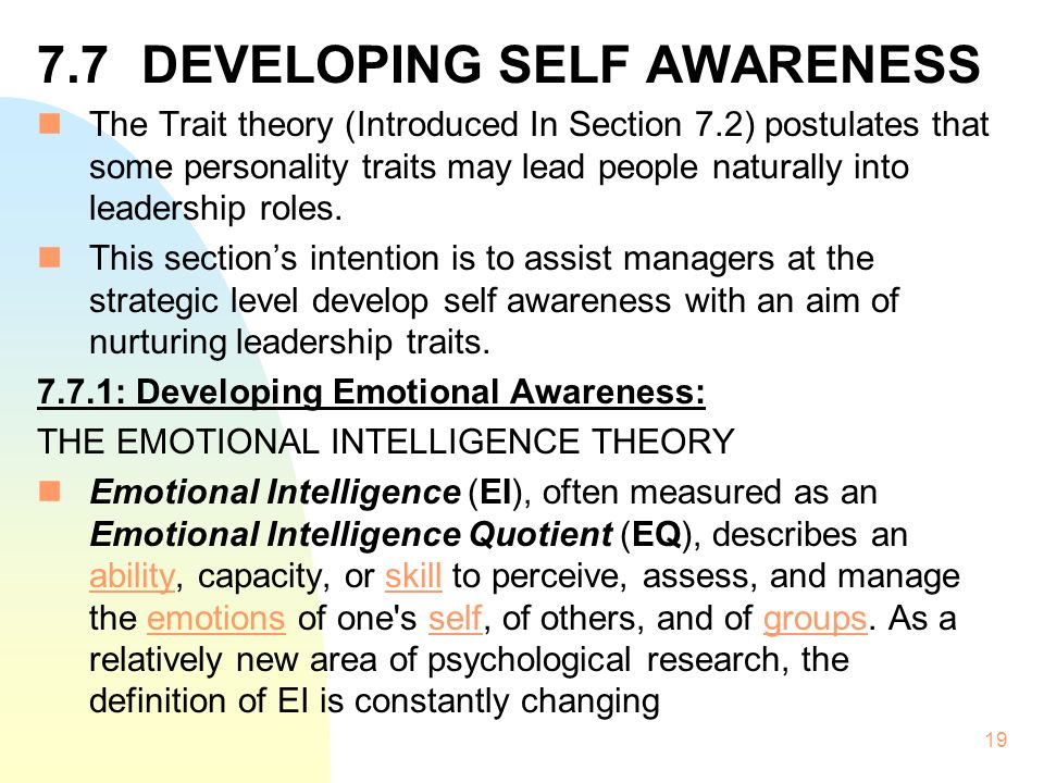 """self awareness theory An african proverb says, """"when there is no enemy within, the enemies outside can do you no harm"""" self-awareness is one of the most important skills for success how you behave and respond."""