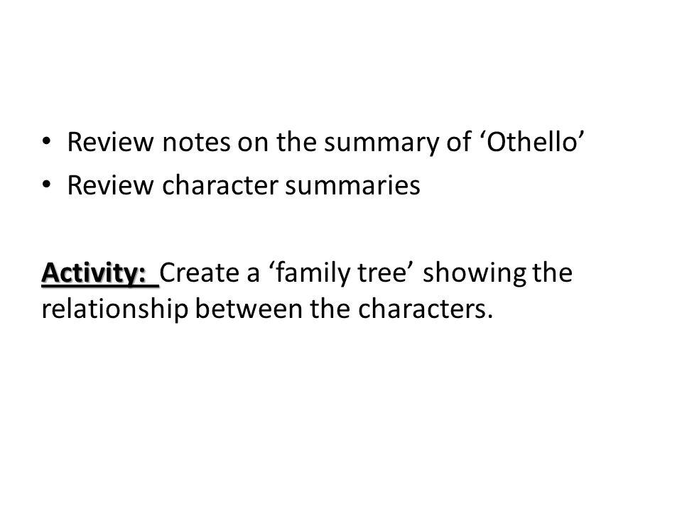 othello summary