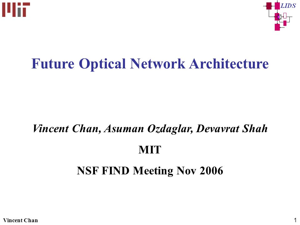 Future Optical Network Architecture