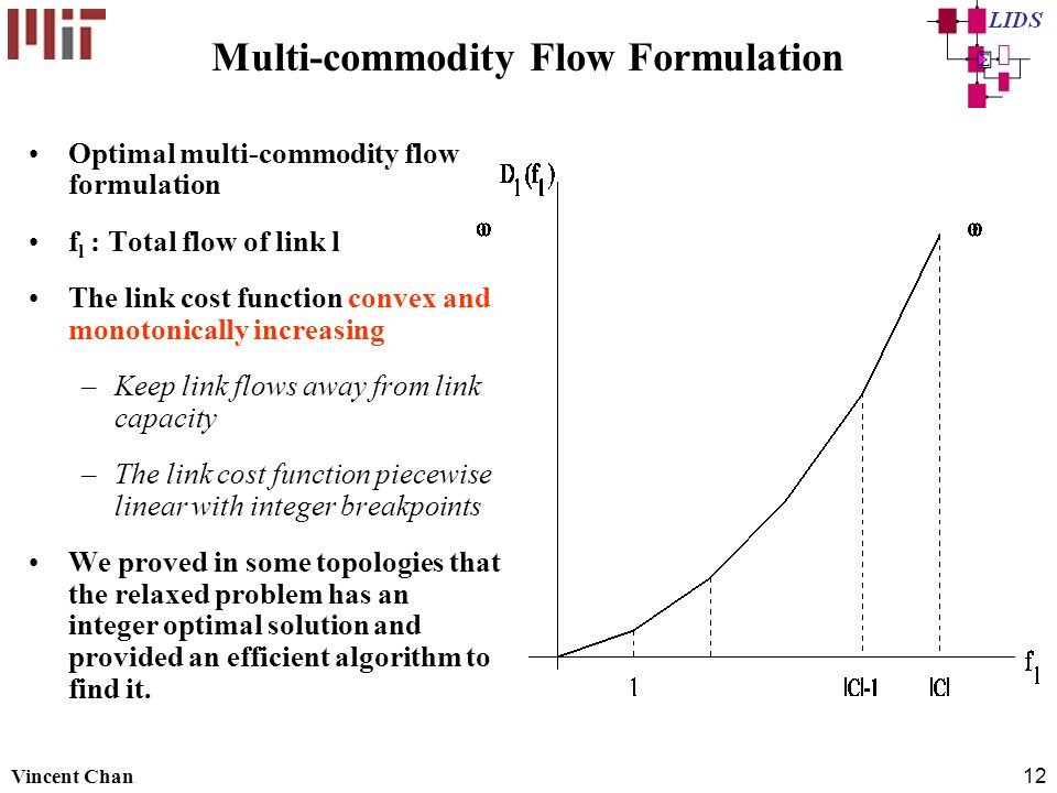 Multi-commodity Flow Formulation