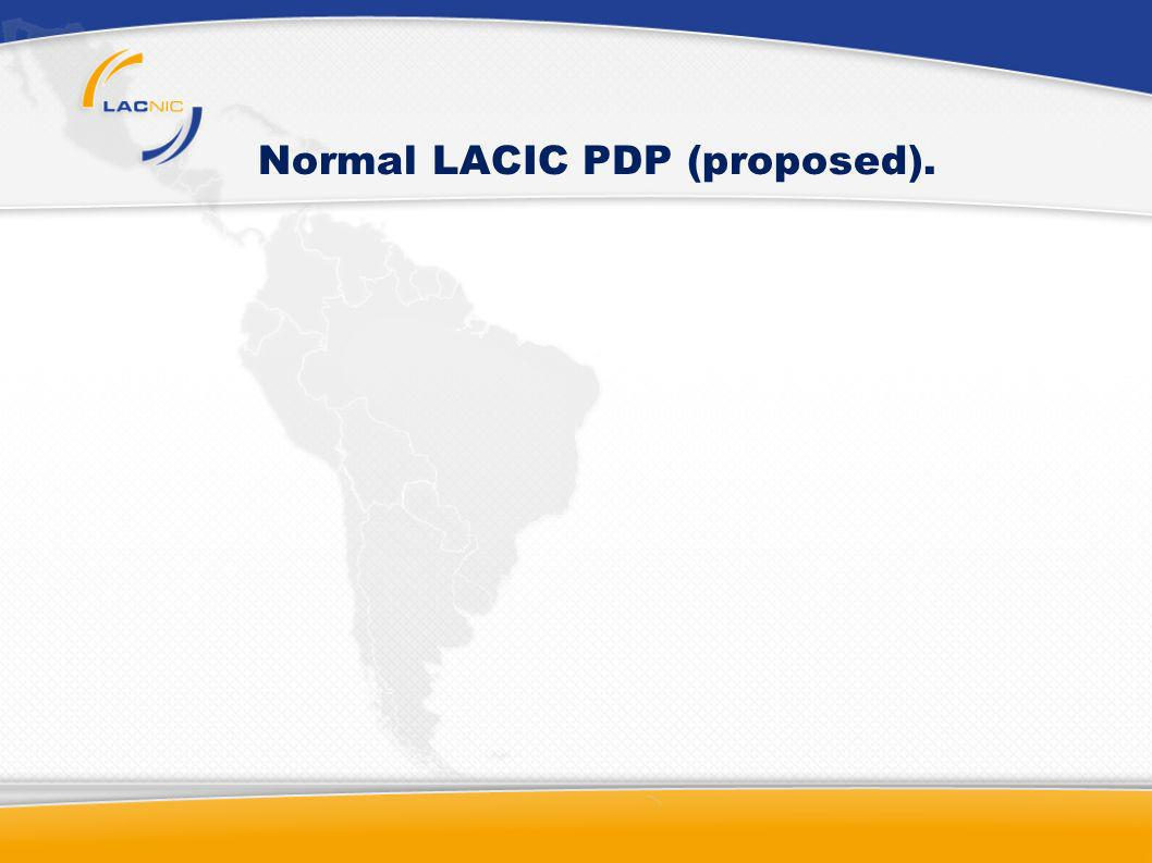 Normal LACIC PDP (proposed).