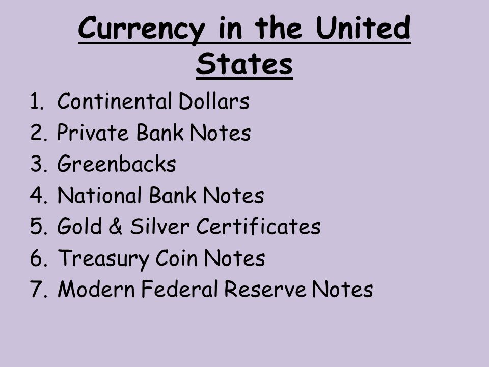 Currency in the United States