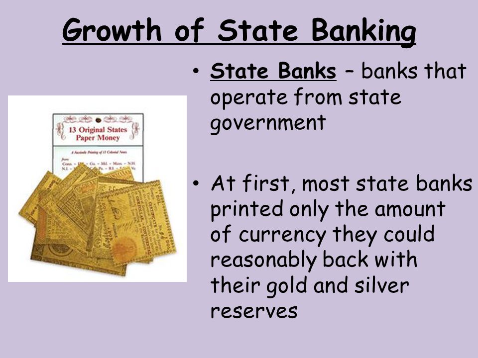 Growth of State Banking