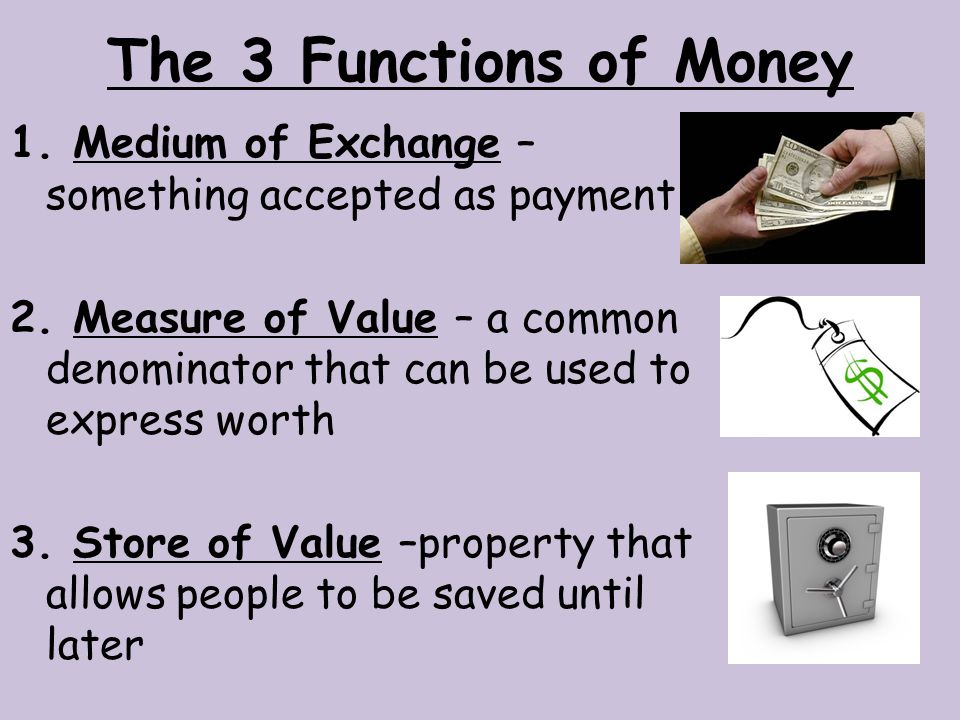 Primary and Secondary Functions of Money