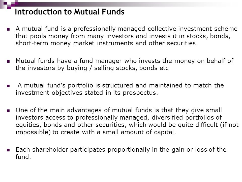 an introduction to buying and trading stocks bonds and mutual funds Sharpen your investing skills with the morningstar investing classroom courses are available on stocks, mutual funds, bonds and portfolio building.