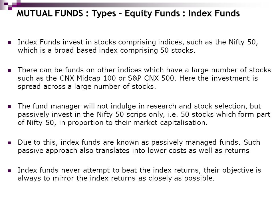 Mutual funds ppt download for Mirror of equity