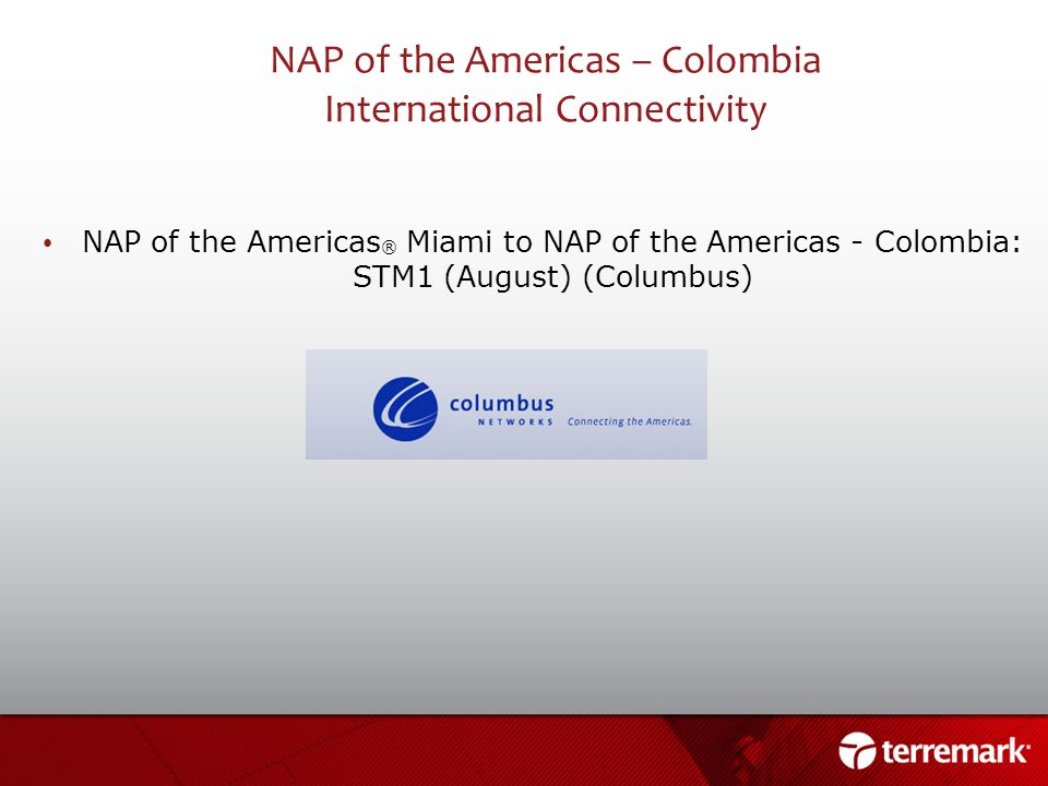 NAP of the Americas – Colombia International Connectivity