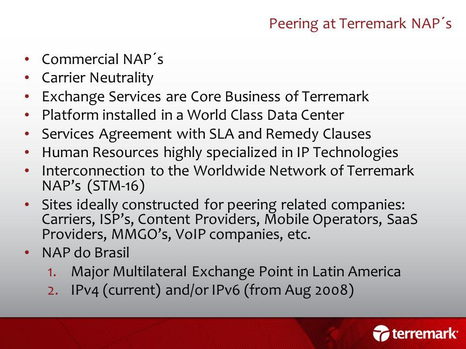 Peering at Terremark NAP´s
