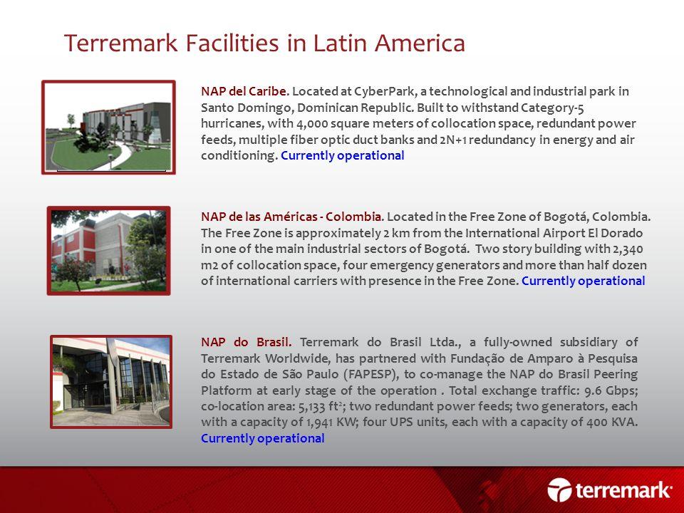 Terremark Facilities in Latin America
