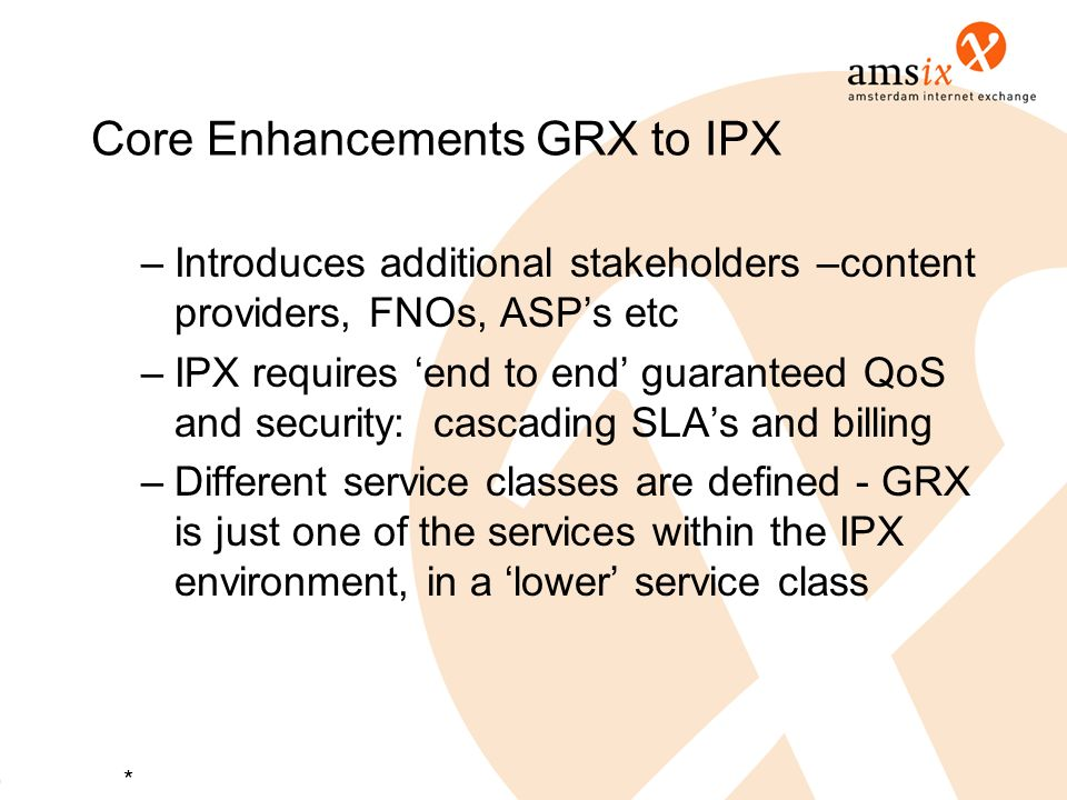 Core Enhancements GRX to IPX