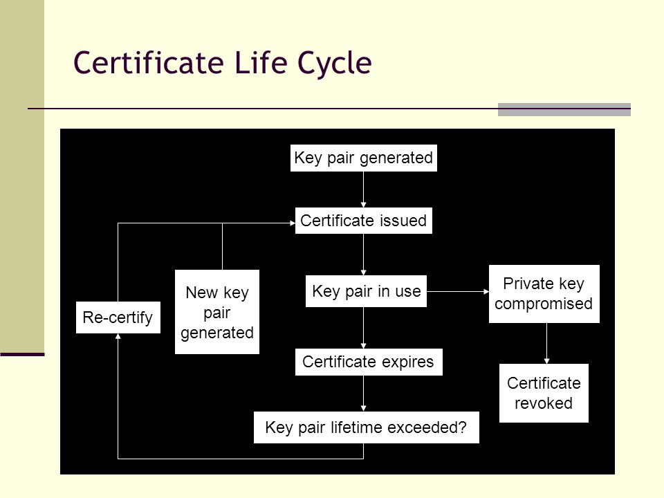 Certificate Life Cycle