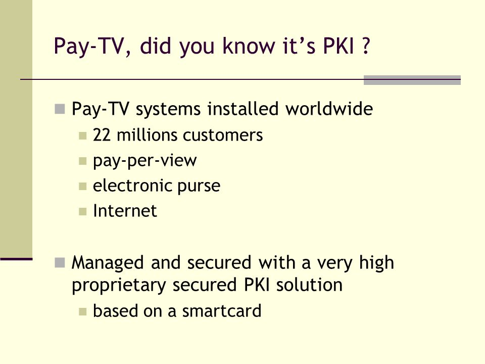 Pay-TV, did you know it's PKI