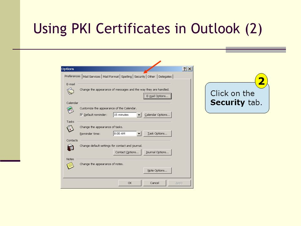 Using PKI Certificates in Outlook (2)