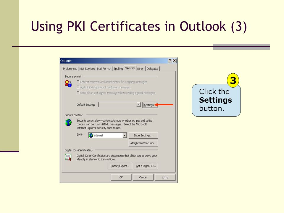 Using PKI Certificates in Outlook (3)