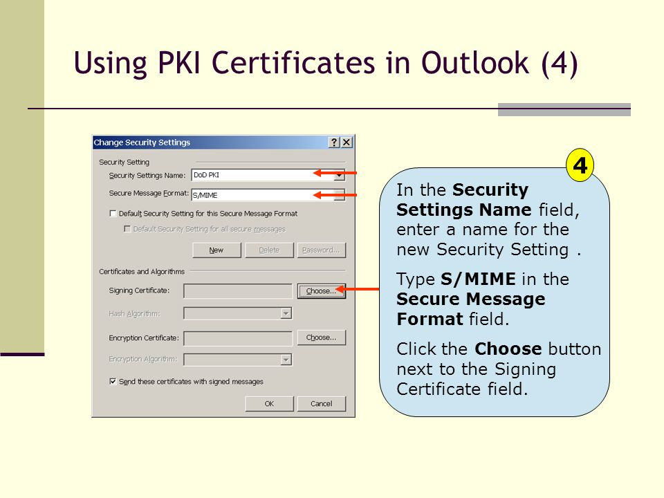 Using PKI Certificates in Outlook (4)