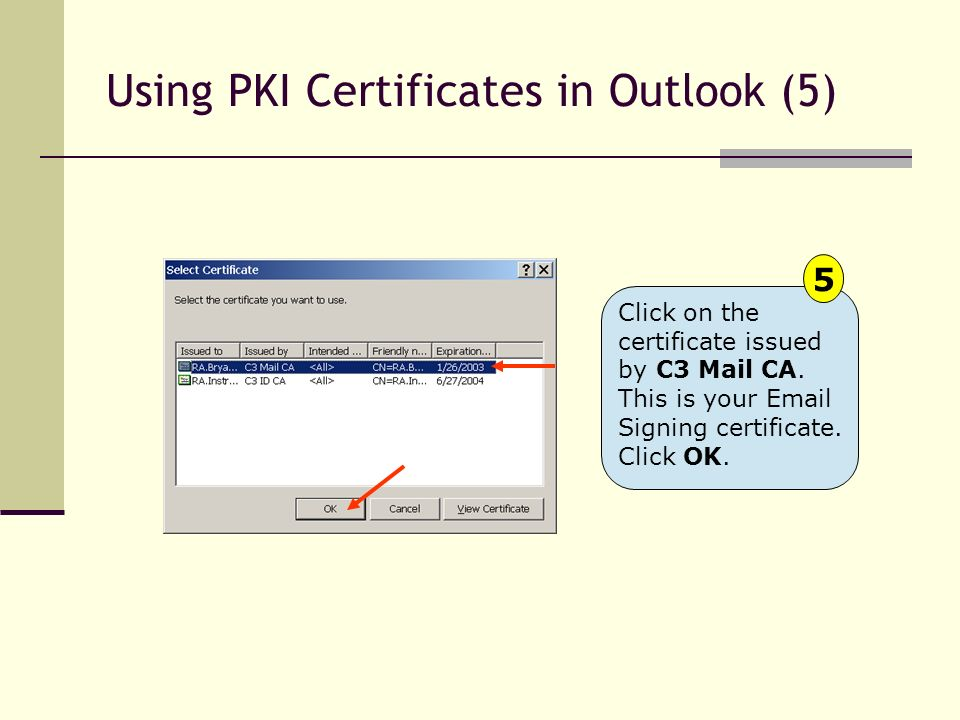 Using PKI Certificates in Outlook (5)