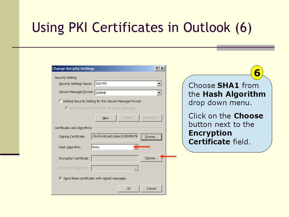 Using PKI Certificates in Outlook (6)