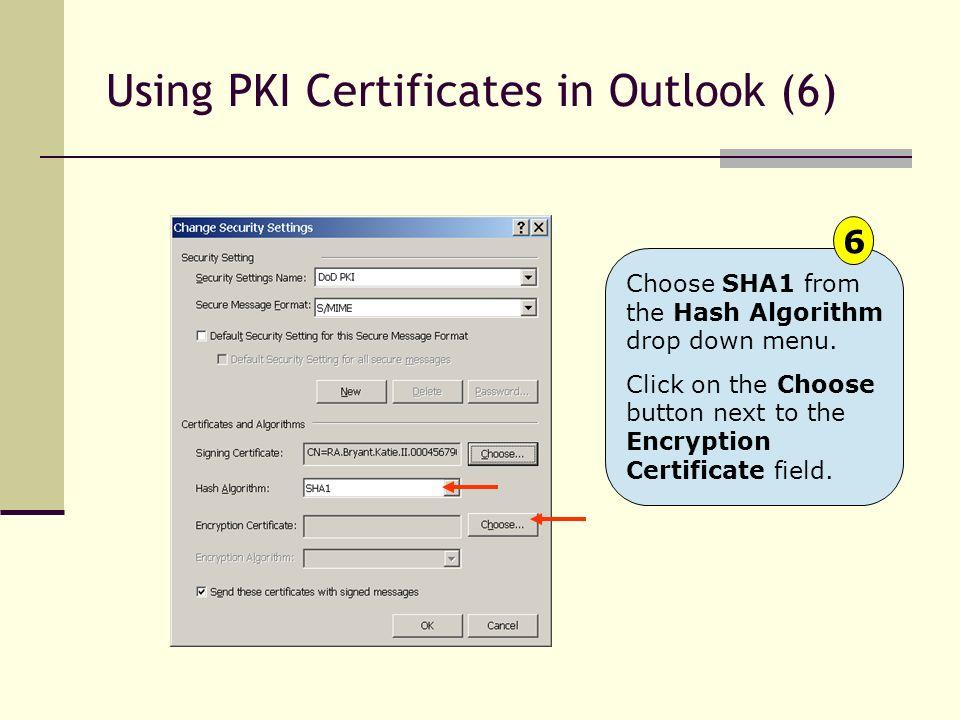 Using PKI Certificates in Outlook (6)