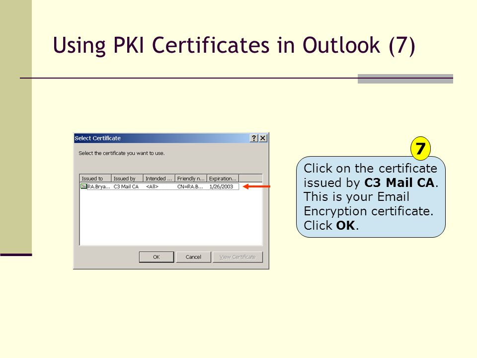 Using PKI Certificates in Outlook (7)