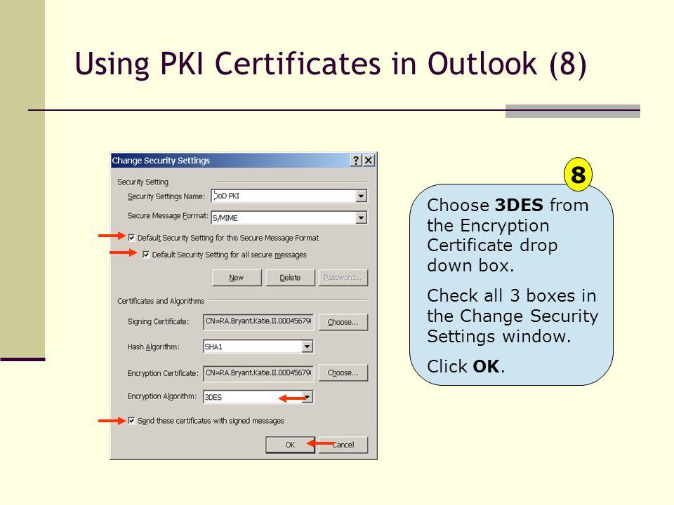 Using PKI Certificates in Outlook (8)