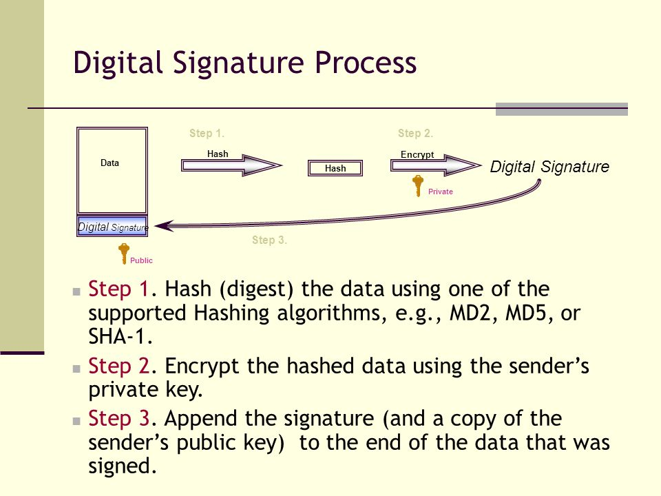 Digital Signature Process