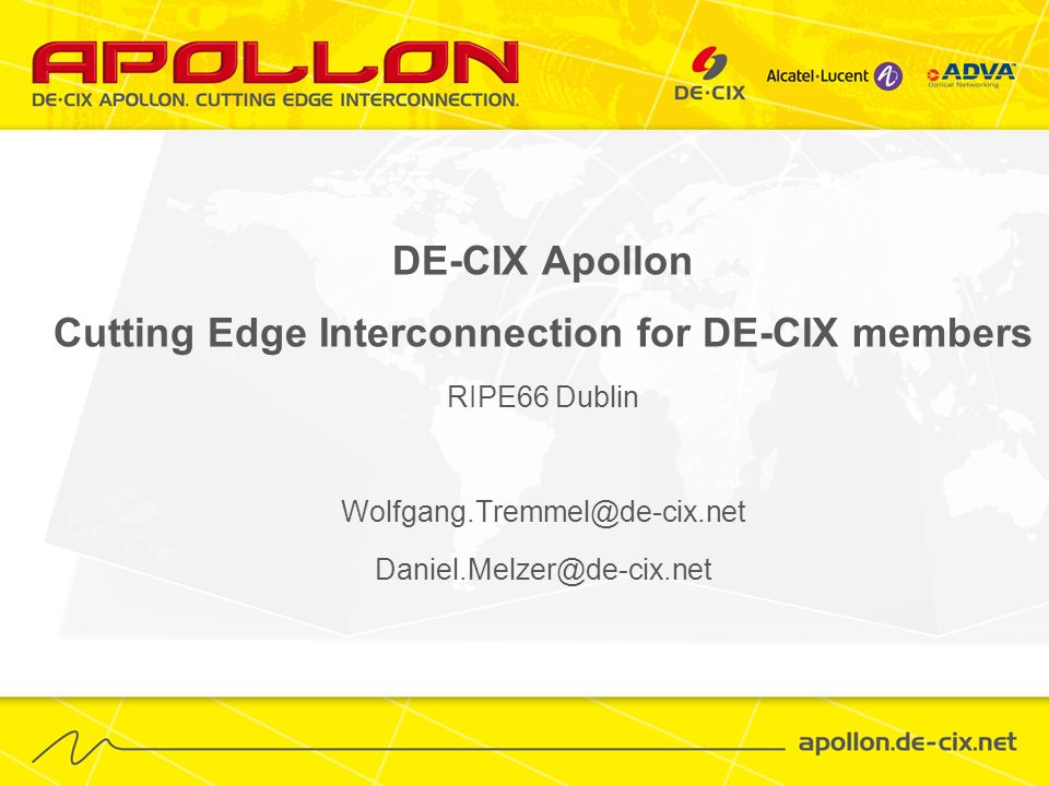 Cutting Edge Interconnection for DE-CIX members