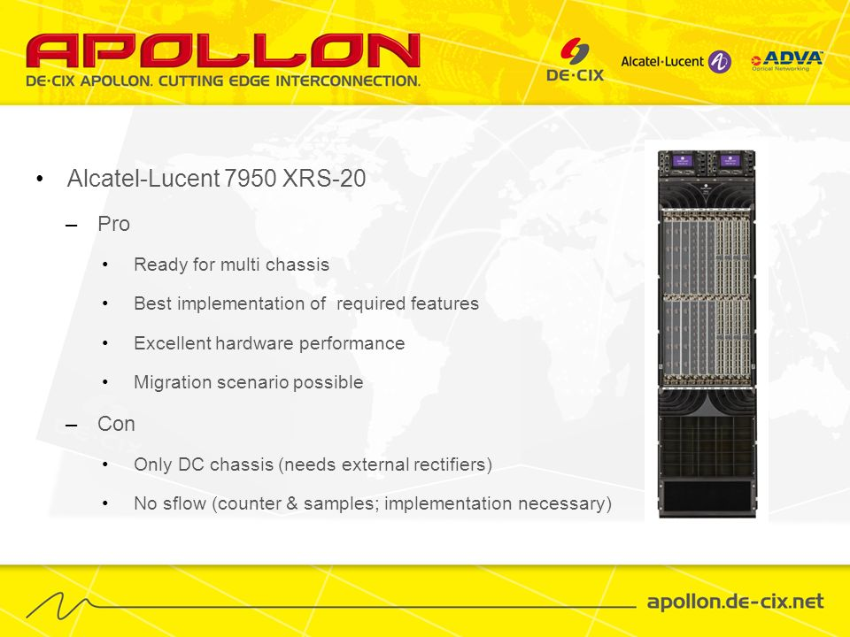 Alcatel-Lucent 7950 XRS-20 Pro Con Ready for multi chassis