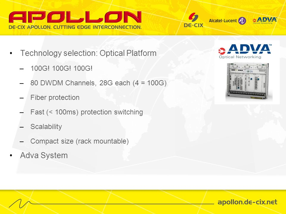 Technology selection: Optical Platform