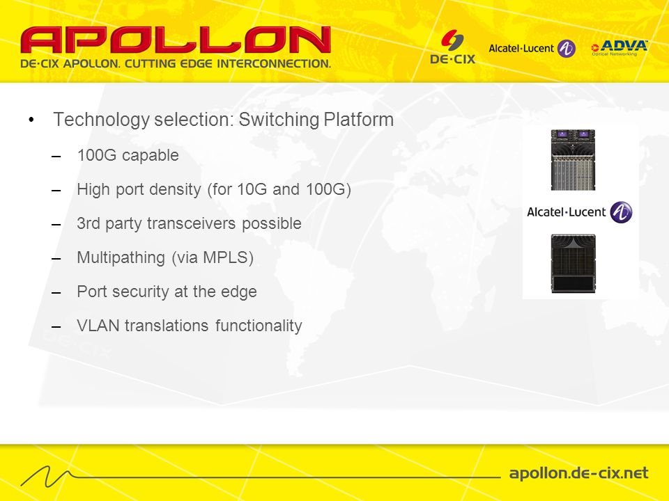 Technology selection: Switching Platform