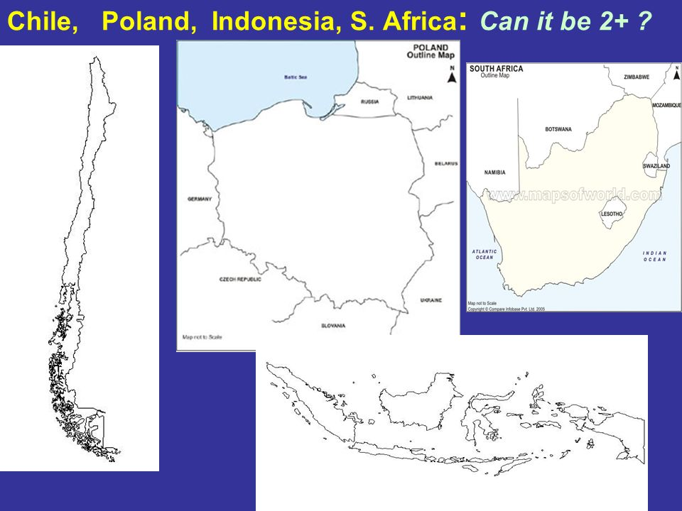 Chile, Poland, Indonesia, S. Africa: Can it be 2+