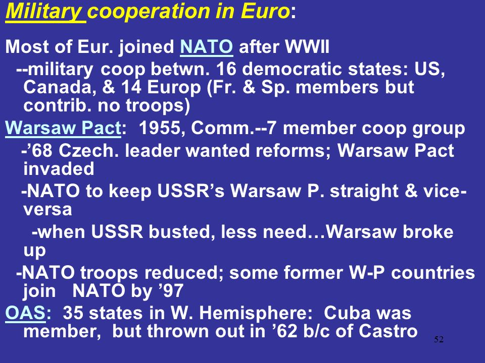 Military cooperation in Euro:
