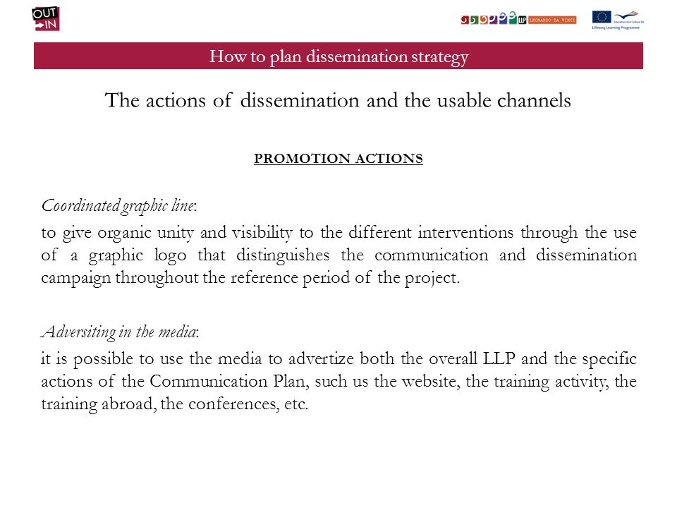 How to plan dissemination strategy