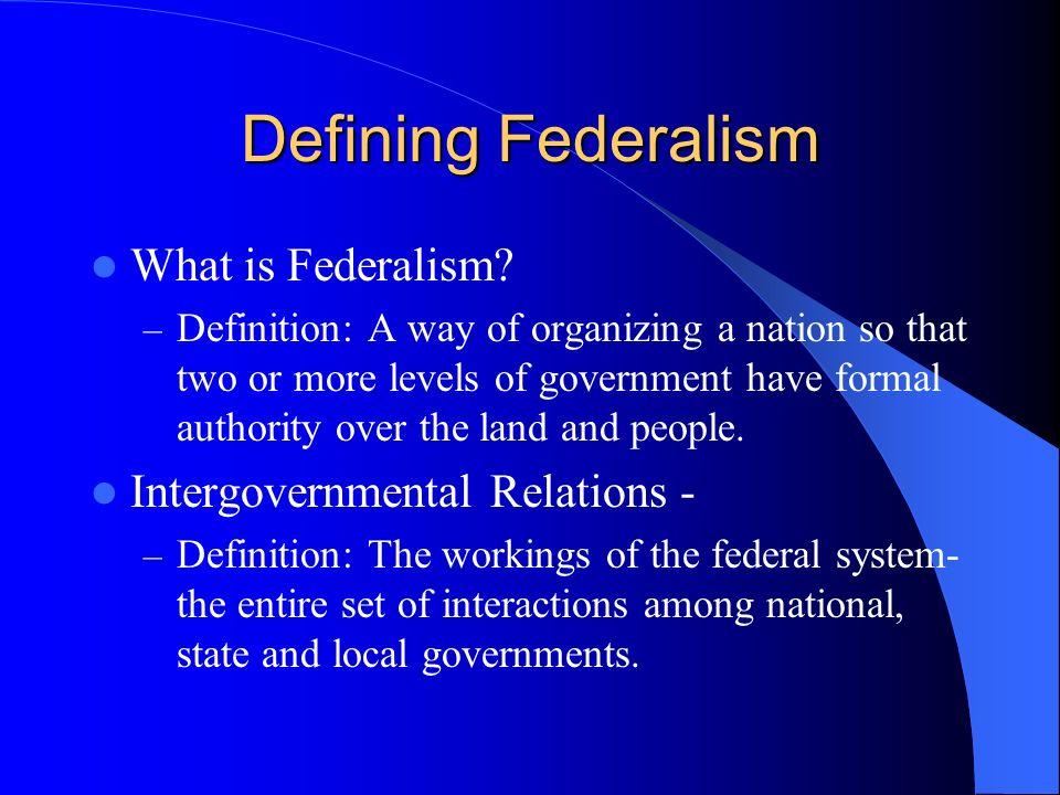 Image Result For Federalism Definitiona