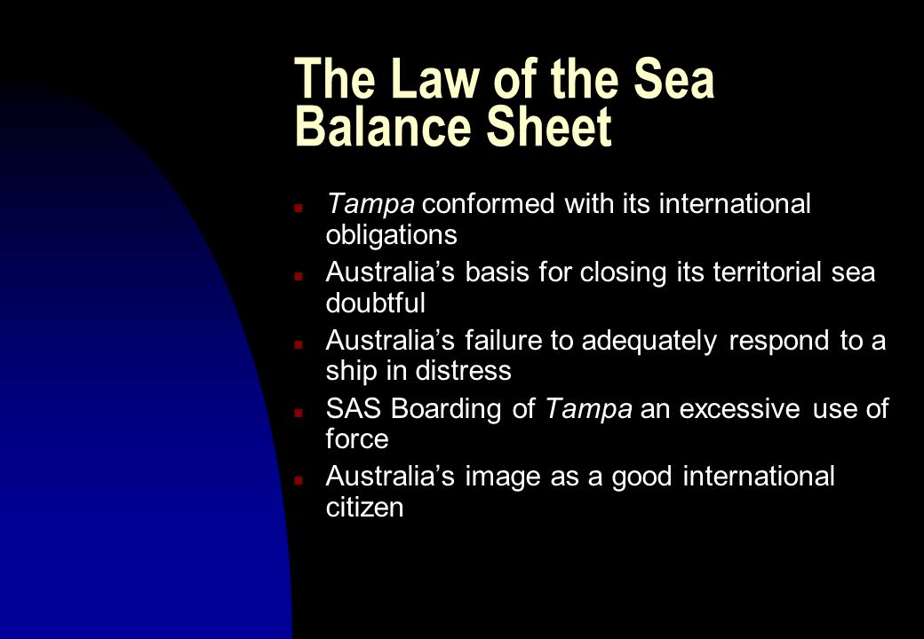 The Law of the Sea Balance Sheet
