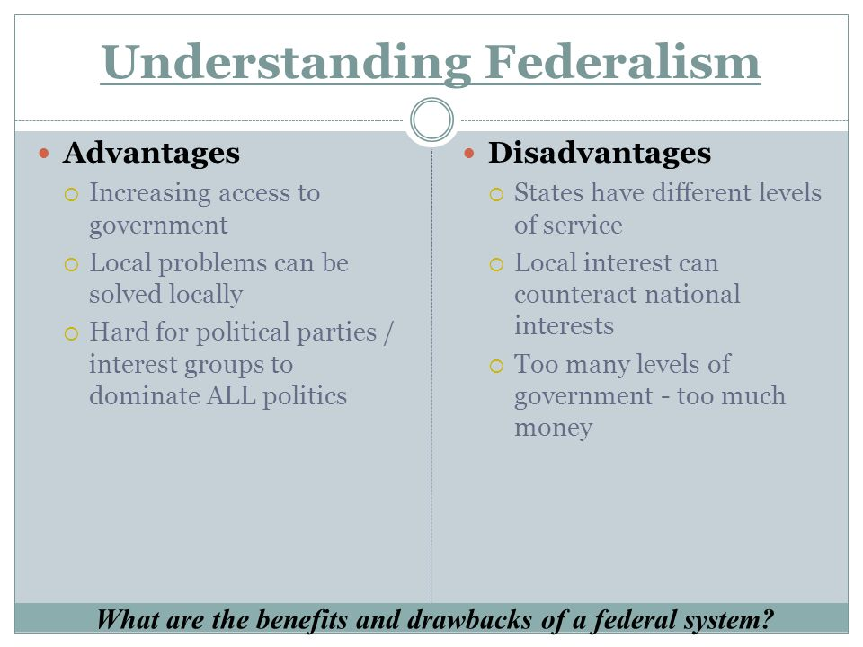 What is a federal system of government?