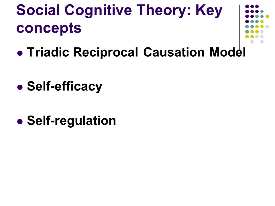 describe components of social cognitive theory that explain why the habit formed Social/cognitive theory best explains my personality conclusion the key element of cognitive research and theory is the influence of what we think or what we do, and some combining some of these ideas with behavioral learning concepts has extended the explanatory power of both approaches.