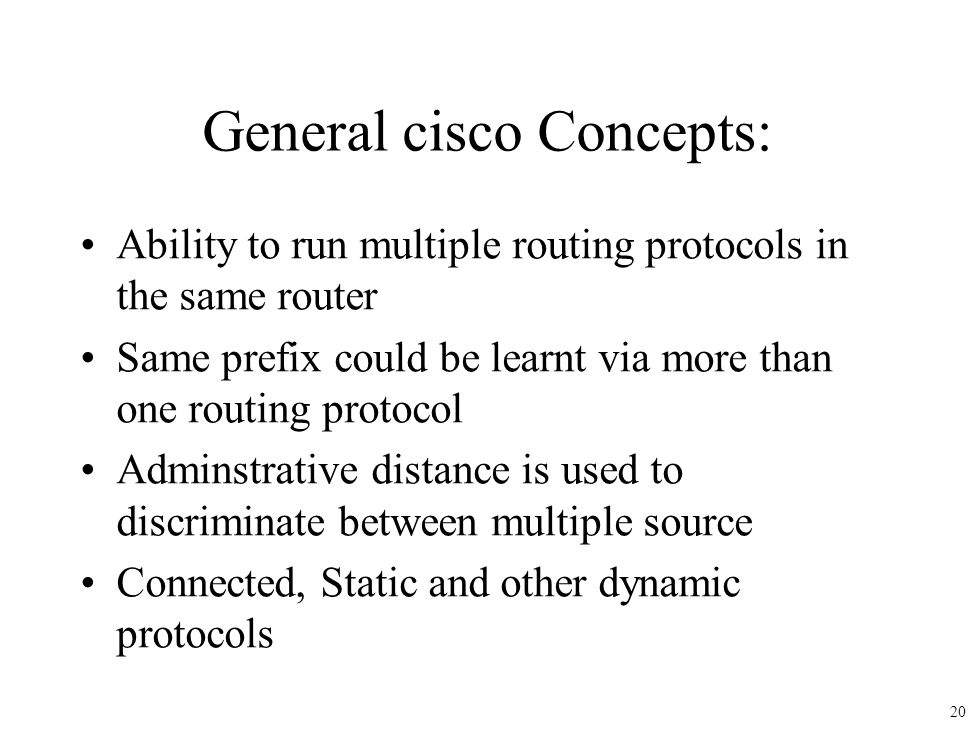 General cisco Concepts: