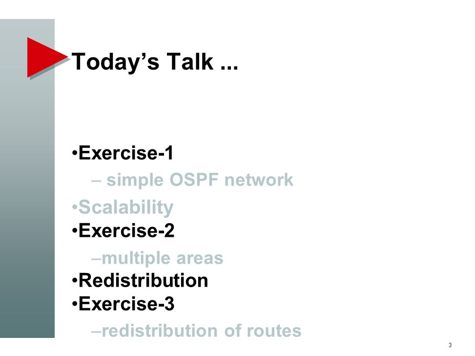 Today's Talk ... Exercise-1 Scalability Exercise-2 Redistribution