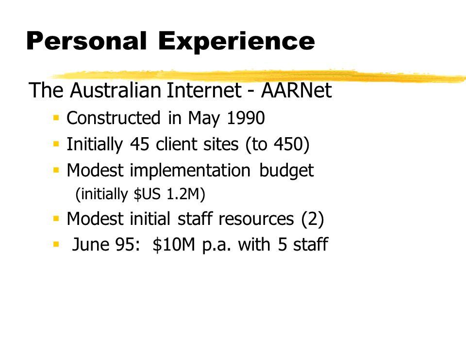 Personal Experience The Australian Internet - AARNet