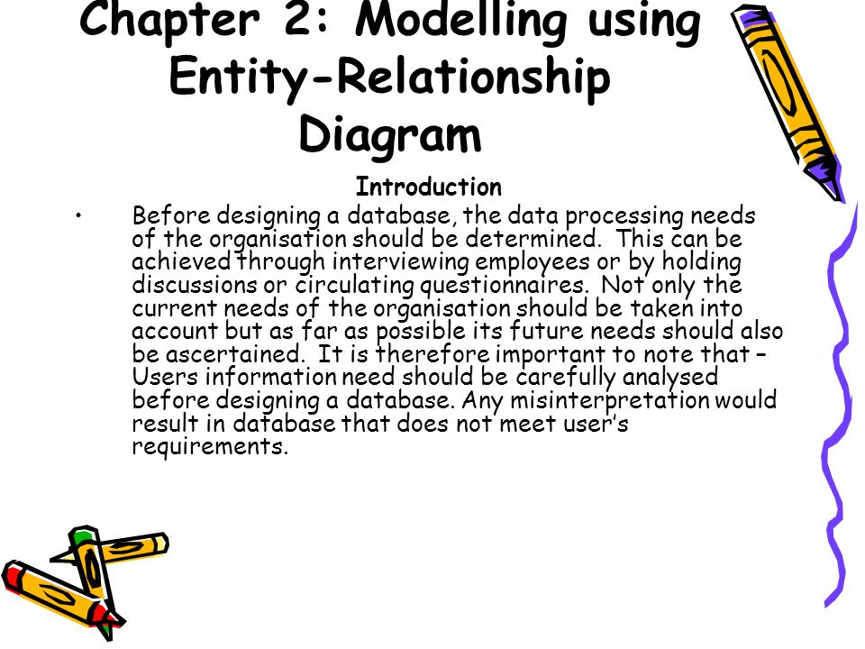 Chapter 2: Modelling Using Entity-Relationship Diagram - Ppt Download