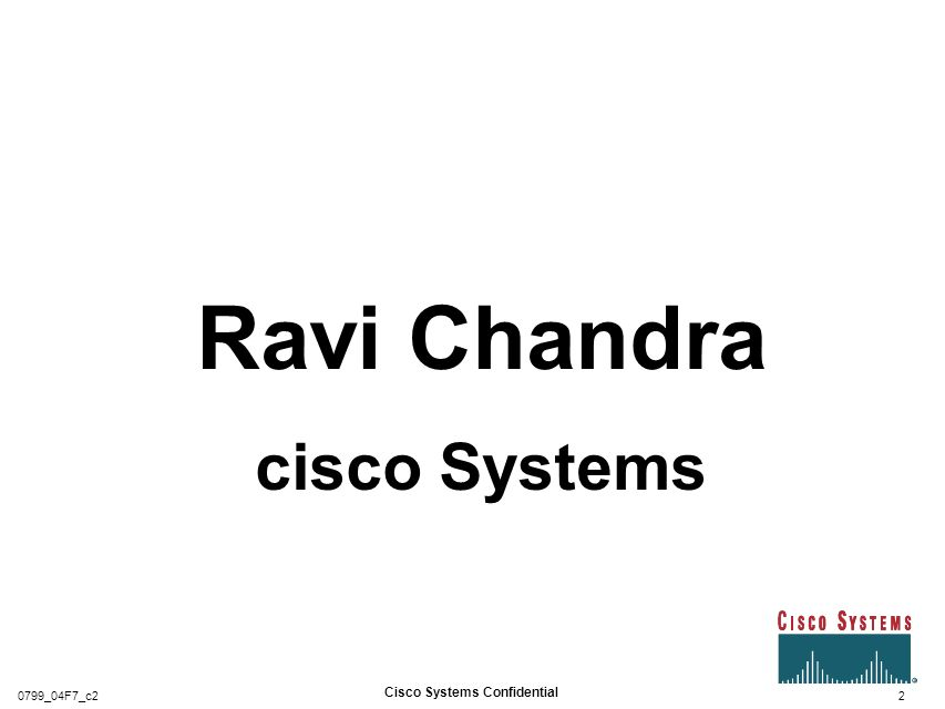 Cisco Systems Confidential