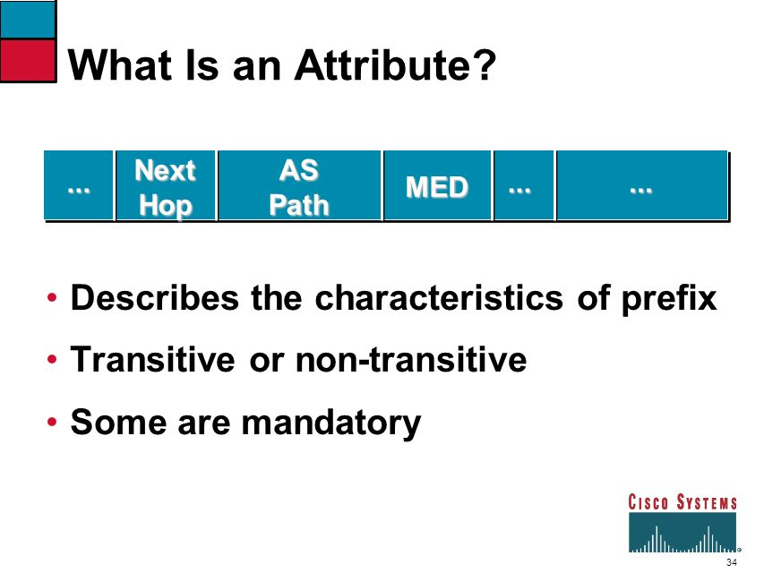 What Is an Attribute Describes the characteristics of prefix