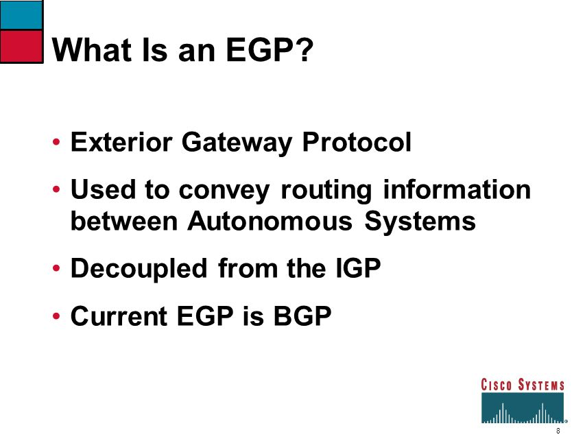 What Is an EGP Exterior Gateway Protocol