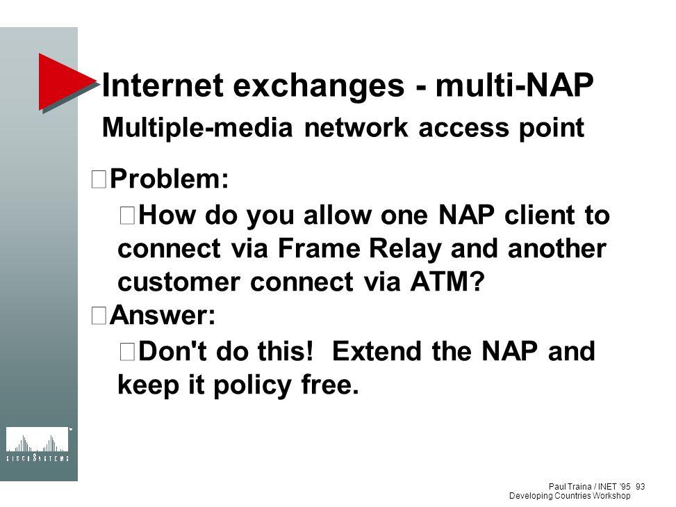 Internet exchanges - multi-NAP