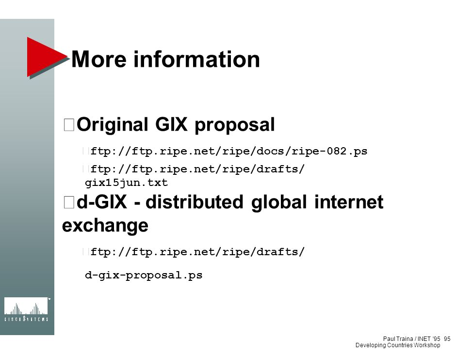More information Original GIX proposal