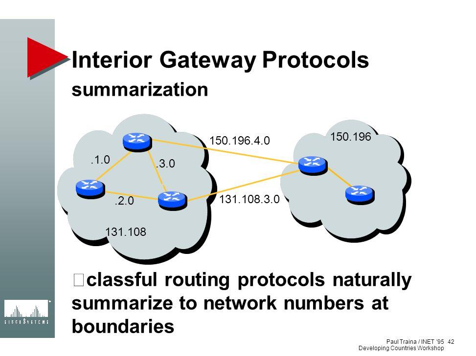 Interior Gateway Protocols